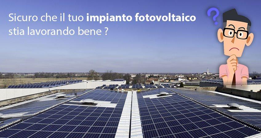 Verifica rendimento pannelli solari