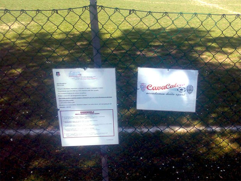 Impianto elettrico Campo Sportivo Cava